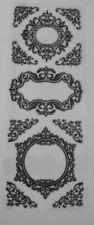 Nero Glitter schiuma Telaio Adesivi (Set 4) 30 CM x 12 cm per schede e Artigianato