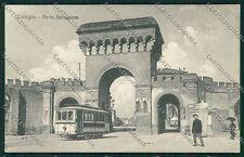 Bologna città Porta Saragozza Tram cartolina QQ8981