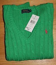 POLO, Ralph Lauren women V neck jumper XS Green  RRP£120