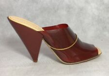 Lemaire Women Shoes Size 37 NIB Clear Red Cherry Mule