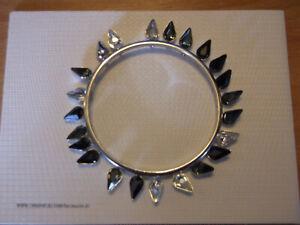 Genuine SWAROVSKI Crystal LOONA Teardrop Bangle Bracelet - S