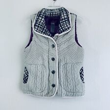 Jack BB Dakota Women's Small Sleeveless Zip & Button Up Vest Gray B