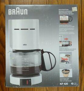 Braun Aromaster 4085 KF 400 420 10 Cup Coffee Maker White Permanent Filter + Box
