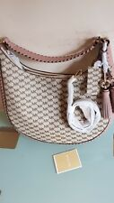 Bnwt Stunning Michael Kors  lydia natural/fawn Leather  Satchel   £320