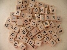 100 Genuine Scrabble Wood Letter Tiles Complete Set Crafts/Replacement
