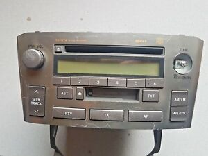 TOYOTA AVENSIS 2003-2008 CD PLAYER RADIO STEREO CASSETTE COMPLETE  86120-05081