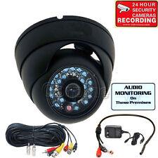 600TVL Security Camera IR Night Vision Wide Angle w/ SONY CCD Audio Mic CCTV me0