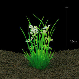 Artificial Green Water Grass Plant Long Leaf For Fish Tank Aquarium Decoration
