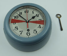GLASHUTTE Sa. NAVY MARINE SHIP CABIN RADIO DECK-HOUSE CLOCK MADE IN GERMANY