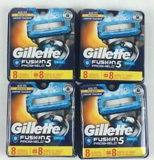 NEW (4) Gillette Fusion - 8 Pack Proshield CHILL 32ct  Razor Blade Cartridges