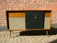 More details for stella stereo garrard turntable record player mid century cabinet sideboard