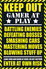 Keep Out Gamer At Play - Warning Sign POSTER 61x91cm NEW * Enter At Own Risk
