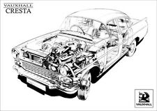 VAUXHALL CRESTA PA RETRO A3 POSTER PRINT FROM CLASSIC 50's ADVERT