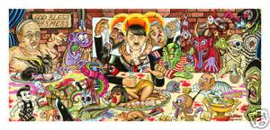 FINE ART PRINT-TATTOO,FLASH,BIKER,MONSTER,UNDERGROUND COMIX,COMIC ART,OUTLAWS