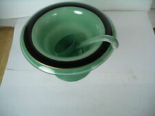 Art Deco Czech. Green & Black Compote small Ladle