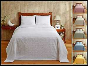 Better Trends Natick 100% Cotton Tufted Chenille Bedspreads or Shams
