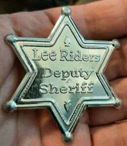 LEE RIDERS DEPUTY SHERIFF Toy Badge Vintage Metal Pinback