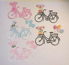 Bicycles Bike Birthday Spring Floral Transportation Die Cuts Several Colors