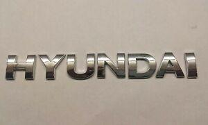New Chrome 3D Self-adhesive Car Letters badge emblem sticker Spelling HYUNDAI