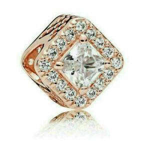 Genuine Pandora Rose Gold Geometric Radiance Charm ALE R Charm 925 Met 786206CZ