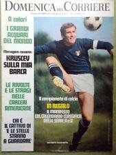 La Domenica del Corriere 28 Settembre 1971 Calcio Kruscev Reisch Facchetti Hippy