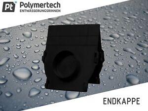 Kunststoff Endkappe für Entwässerungsrinne Typ SP-120 SP-80 mit/ohne Rohrstutzen
