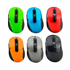 Nero Wireless Cordless Mouse 2.4GHz dongle USB Ottico Scroll per PC Portatile Regno Unito