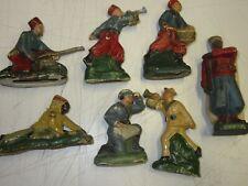 LOT 7 Jouets anciens Platre et Farine / Composition:Spahis/Indien/divers / JRD