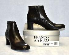 B0 NIB FRANCO SARTO L Mack Black Marmo STR Nappa Ankle Boot Shoes Size 8 M