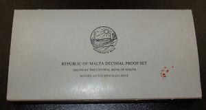 Nice Original 1978 Malta 9 Coin proof set