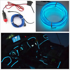 Car Interior Trim Door Panel Footwell Blue Atmosphere Cold Light Lamp Strip Line