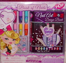 POP BOOK OF NAILS ** 26 PIECE COLLECTION ** NAIL ART ** AGE 3/UP ** NEW **
