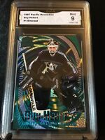 1997 Pacific Revolution GUY HEBERT #1 Emerald GMA Mint 9 Hockey Card
