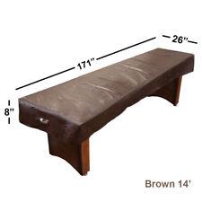 Heavy Duty Leatherette Shuffleboard Table Cover (Brown, 14')
