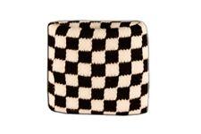 Schweißband Fahne Flagge Karo Schwarz Weiß 7x8cm Armband für Sport
