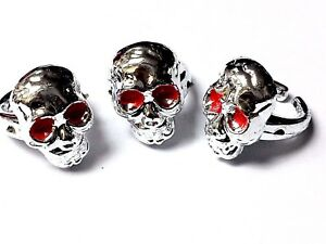 12pc Skull Rings Pirate Biker Halloween Jewelery Birthday Party Favor Carnival