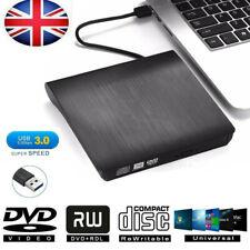 USB External DVD CD ROM Disc Burner Drive Reader For Windows 07 08 10 XP Laptop