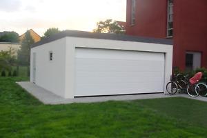 Garage 5,45x L 6,05m x H 2,50 m Garagen Fertiggarage 1a.de Sektionaltor M-Sicke