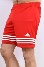 ADIDAS Mens Shorts Sport Red White Glanz Shiny Sport Climalite W30 Small S FAB