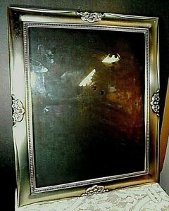 """Metal frame Silver toned Frame for  11"""" x 14"""", Clear Glass Reversible"""
