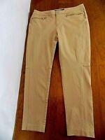 Lauren Ralph Lauren  Skinny leg Women's Ankle Slacks Pants Sz 10 Camel Zip Pkts