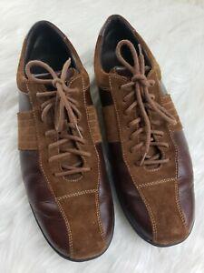 Cole Haan Mens Brown Suede Leather Oxfords Shoes Size 13 M Vibram Soles