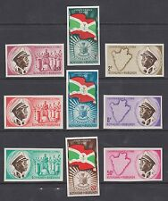 Burundi Sc 25-33 MNH. 1962 Independence, cplt set, IMPERF, VF
