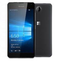 New Microsoft Lumia 650 Black 16GB 8MP NFC GPS 4G Windows 10 Unlocked Smartphone