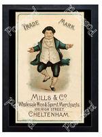 Historic Mills & Co Wine & Spirit Merchants, Cheltenham Advertising Postcard
