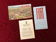 Vintage 1960s FIAT 600D 1100 1200 Spider Original Sales Brochure advertising car