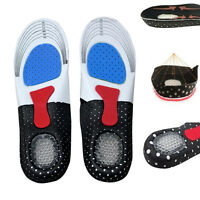 Orthotic Arch Sport Support Insert Shoe Pad Shock Absorb Gel Heel Unisex Insoles