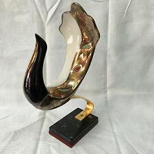 Vintage Galos Superbe céramique Oiseaux sur socle grande dimension 70's signé n2