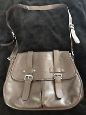 Large Leather Brown Osprey London Brown Satchel Cross The Body Bag