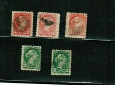 CANADA 1870 5 SMALL QUEEN VICTORIA cat 2/2c 3/3c #36-7 $11.00 USED  BK 01